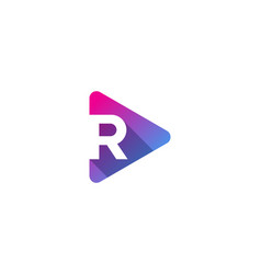 media letter r logo icon design vector image