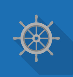 metal ship wheel icon vector image