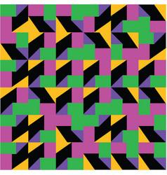 multicolored geometric truchet pattern background vector image