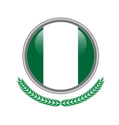 nigeria flag button nigeria flag icon of nigeria vector image
