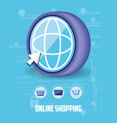 on line shopping with browser vector image