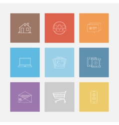 Outline icon colorful set vector image