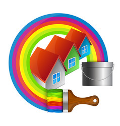 Painting houses vector