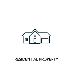 residential property concept line icon simple vector image
