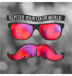 Retro hipster glasses lifestyle vector image
