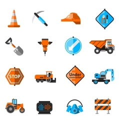 Road Repair Icons vector image