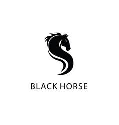 s horse logo vector image