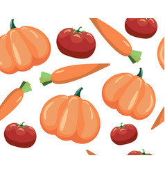 seamless pattern with vegetables vegetables on vector image