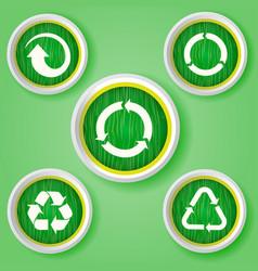 set arrows on white badges collectors set vector image