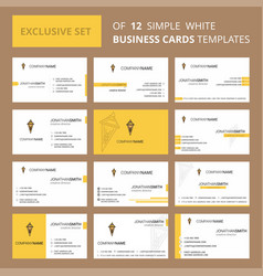 set of 12 ice cream creative busienss card vector image