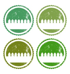 Set of garden labels vector