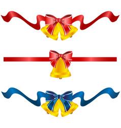set of three festive bells vector image