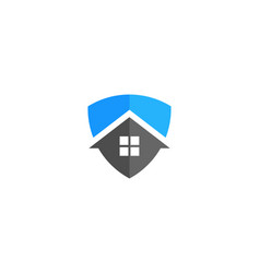 shield house logo icon design vector image