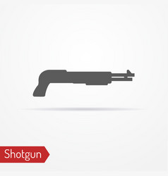 shotgun silhouette icon vector image