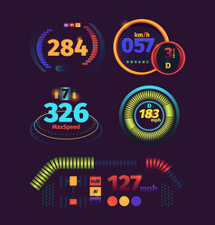 speedometer futuristic automobile racing speed vector image