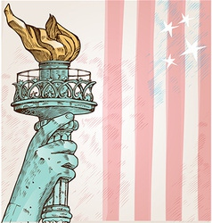 statue liberty with torch vector image