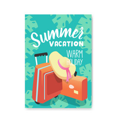 summer vacation poster flyer invitation template vector image