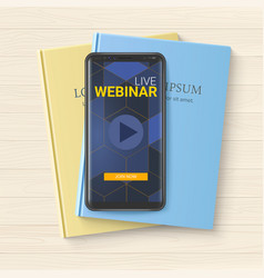 template for announcements live webinars vector image