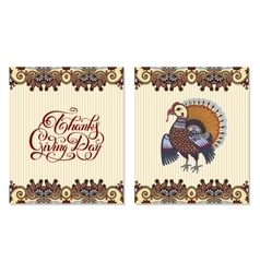Thanks Giving Day decorative greeting card with vector