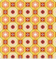 Tiles lisbon yellow vector