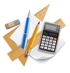 Tools set for education vector image