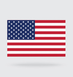 usa flag cross stitch isolated on background vector image