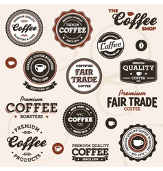 Vintage coffee labels vector