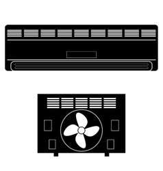 Wall-mounted Air Conditioner Icon vector