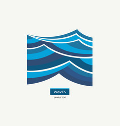 water wave logo abstract design vector image