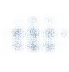 white digital matrix binary code numbers vector image