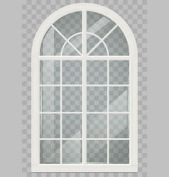 wooden arched window vector image