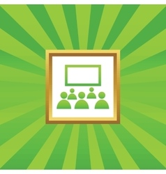 Audience picture icon vector