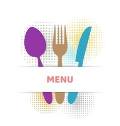 Colorful restaurant menu vector image vector image