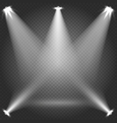 stage illumination with white transparent vector image