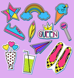 stickers and patches collection trendy vector image vector image