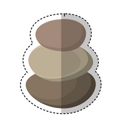 stones spa isolated icon vector image