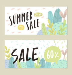 summer sale flyers vector image vector image