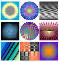 halftones patterns vector image