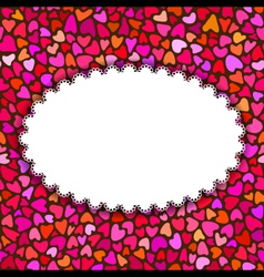 Hand drawn hearts romantic background or greeting vector image