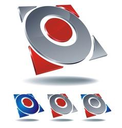 logo arrow four vector image vector image