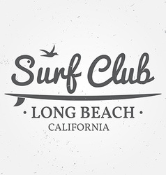 Surfing concept for shirt or logo print stamp For vector image vector image