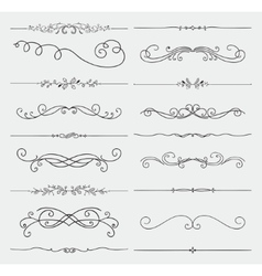 Black Doodle Hand Drawn Swirls Collection vector image