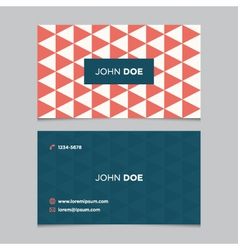 business card pattern red 03 vector image vector image