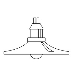 hanging lantern icon outline style vector image