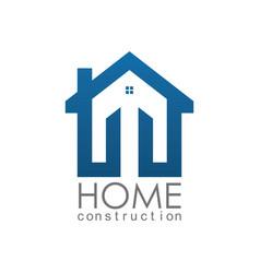home construction logo vector image