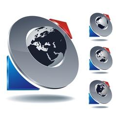 logo arrow planet vector image vector image