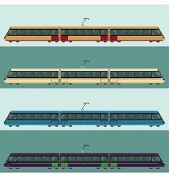 Set of tramtrains vector image vector image
