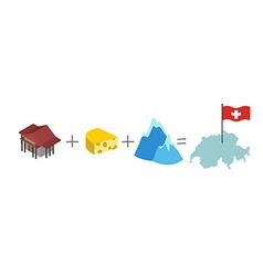 Symbols of Switzerland Mathematical formula Bank vector image vector image