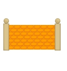 Concrete fence icon cartoon style vector image vector image