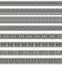 Design elements Pompeian Roman Borders classical vector image